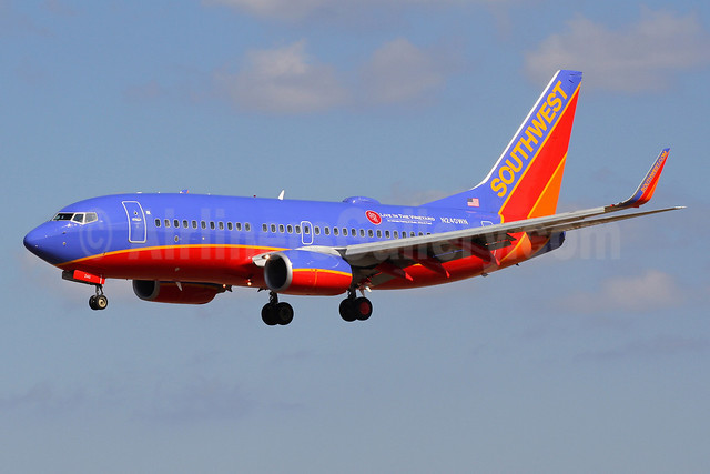 Southwest Airlines Boeing 737-7H4 WL N240WN (msn 32503) (Live in the Vineyard) BWI (Brian McDonough). Image: 911899.
