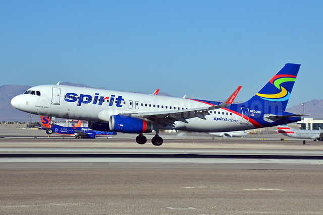 Spirit Airlines Airbus A320-232 WL N620NK (msn 5624) (Sharklets) LAS (Eddie Maloney). Image: 920901.