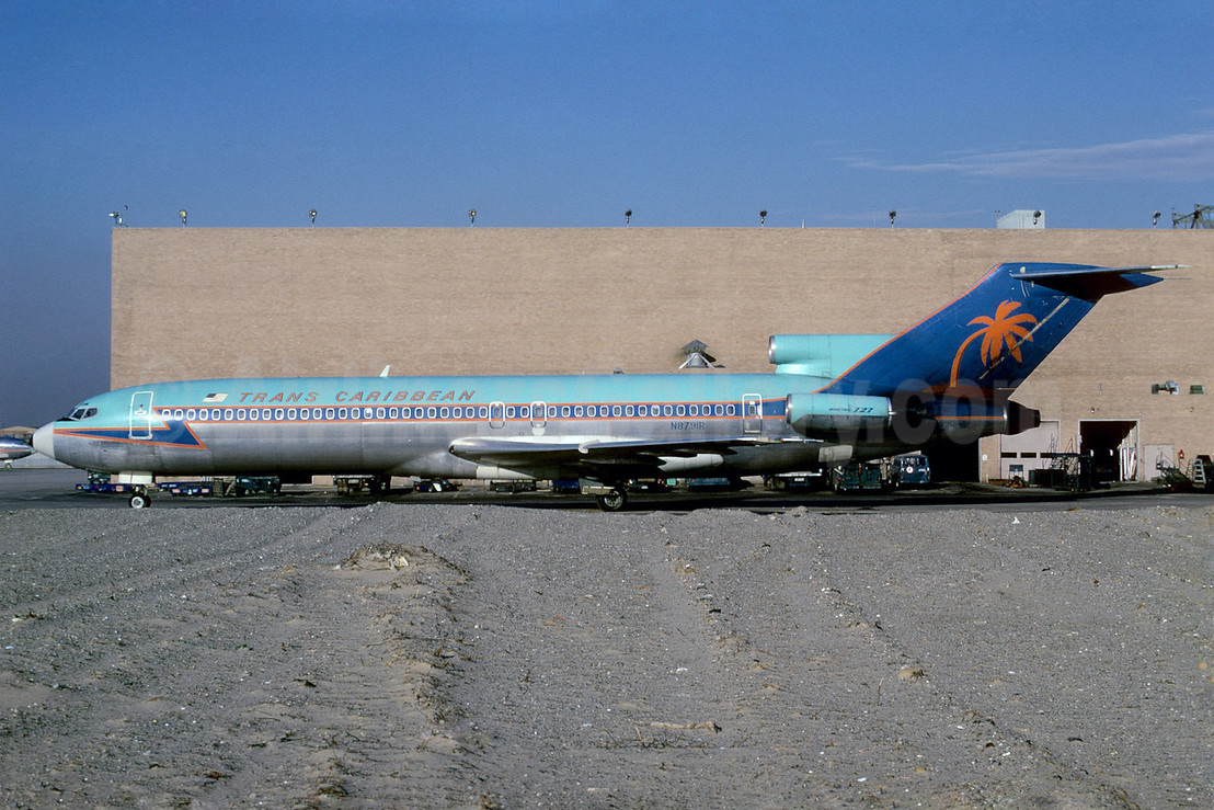 Trans Caribbean Airways Boeing 727-2A7 N8791R (msn 20241) JFK (Bruce Drum). Image: 101920.