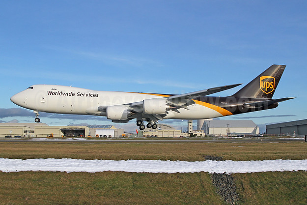 UPS Airlines (UPS-Worldwide Services) Boeing 747-8F N626UP (msn 65781) PAE (Nick Dean). Image: 952877.