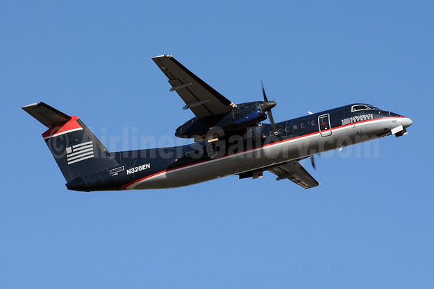 US Airways Express-Piedmont Airlines (2nd) Bombardier DHC-8-311 Dash 8 (Q300) N326EN (msn 234) CLT (Bruce Drum). Image: 102365.