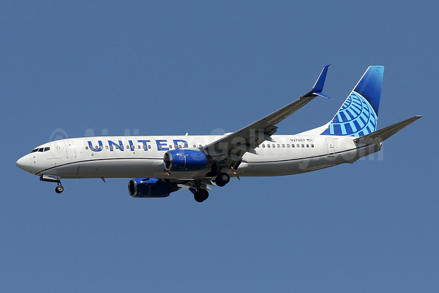 "United's 2019 updated ""out with the gold"" livery, unveiled on April 24, 2019"