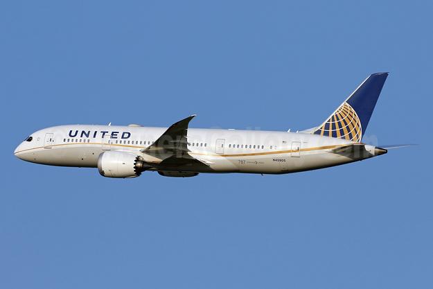 United Airlines Boeing 787-8 Dreamliner N45905 (msn 34825) IAD (Brian McDonough). Image: 941916.