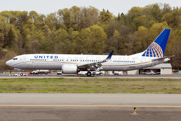 United's first Boeing 737-9 MAX 9, delivered on April 23, 2018