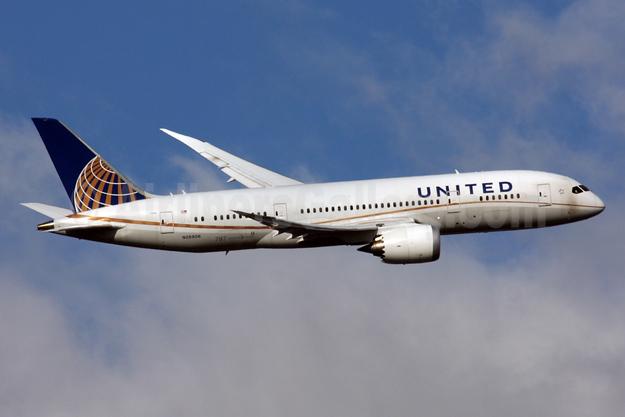 United Airlines Boeing 787-8 Dreamliner N26906 (msn 34829) LHR (SPA). Image: 926497.