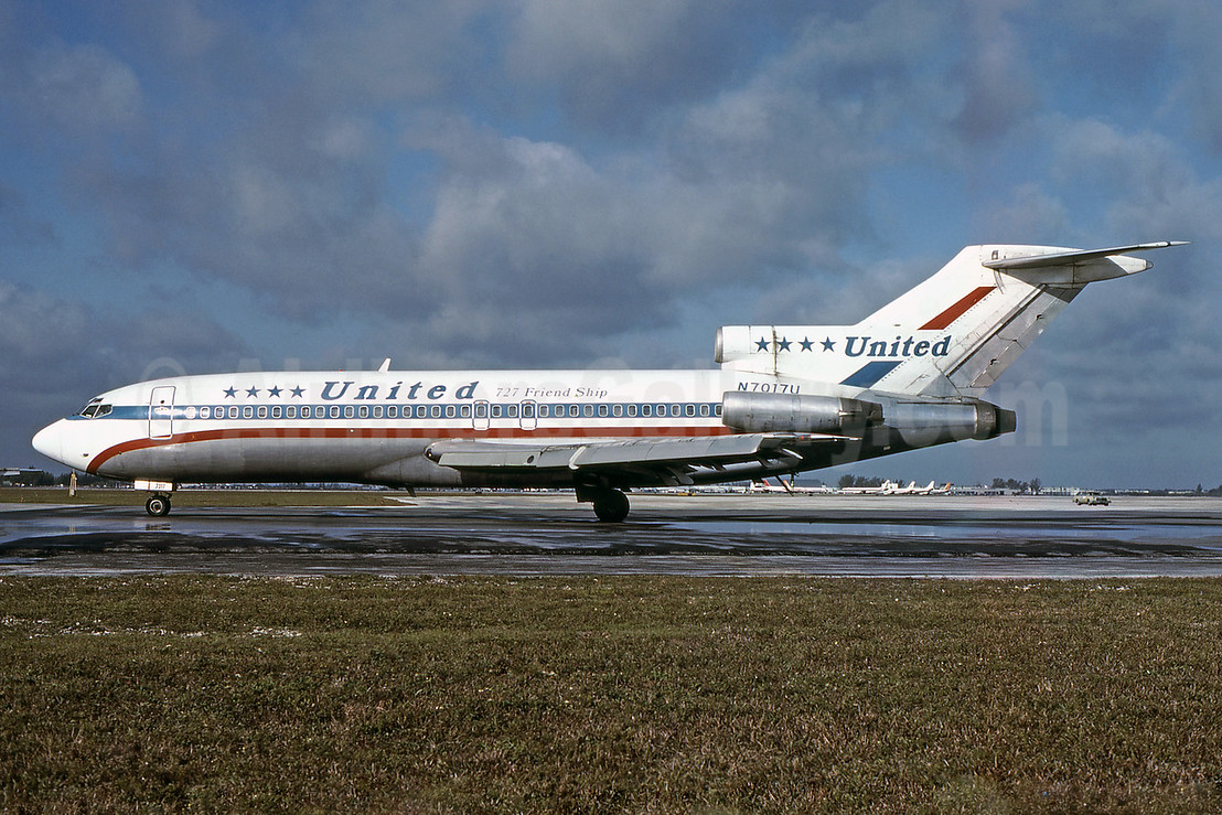 "United Airlines' short-lived 4-Star ""727 Friend Ship"" livery"