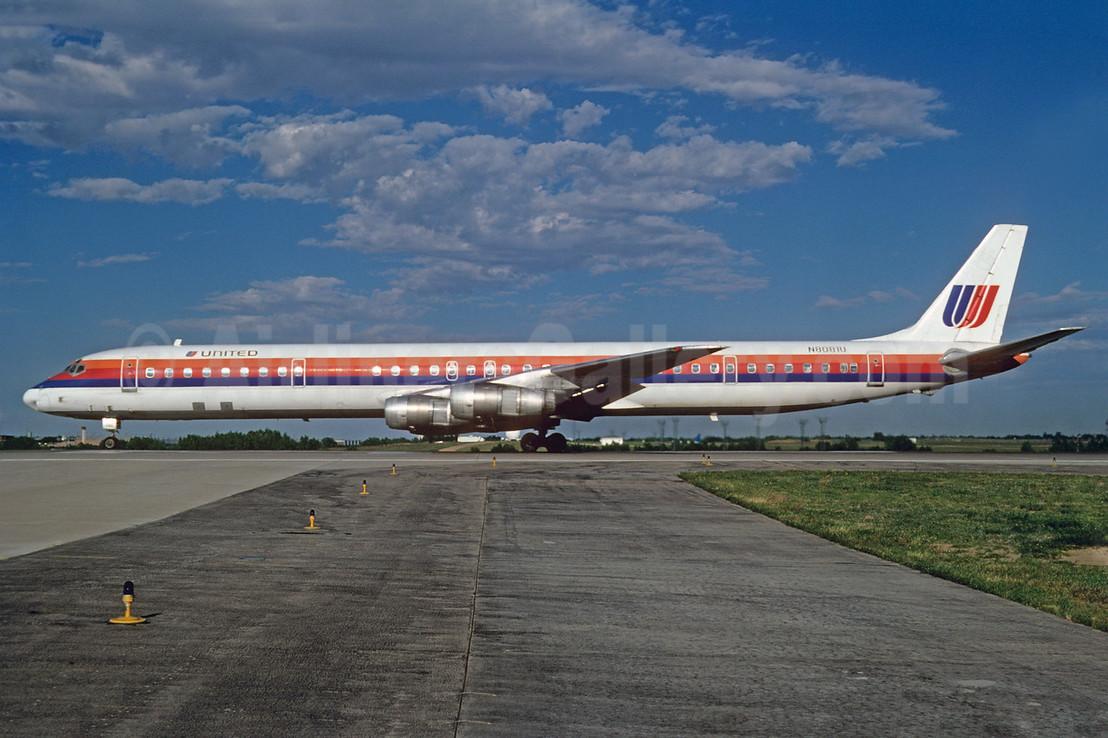 United Airlines McDonnell Douglas DC-8-61 N8081U (msn 45971) DEN (Bruce Drum). Image: 103011.