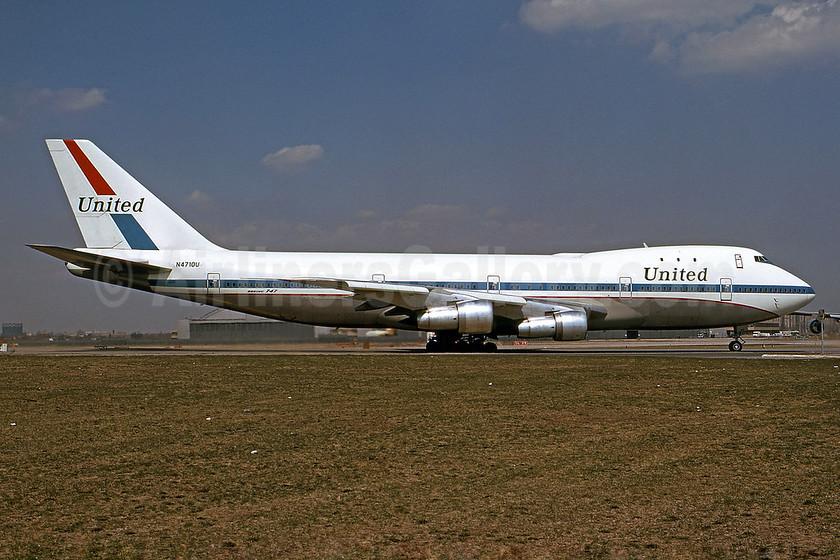 United Airlines Boeing 747-122 N4710U (msn 19755) JFK (Bruce Drum). Image: 101357.