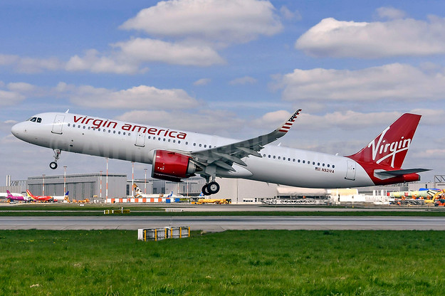 Virgin America's first Airbus A321neo, delivered on April 20, 2017