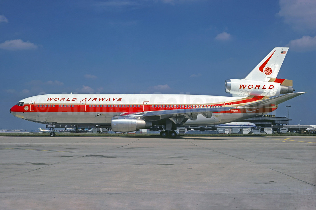 World Airways McDonnell Douglas DC-10-30 N105WA (msn 46891) ORY (Christian Volpati Collection). Image: 931999.