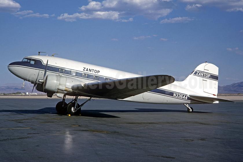 Zantop Air Transport Douglas DC-3A-197E N33644 (msn 4123) (Jacques Guillem Collection). Image: 937863.