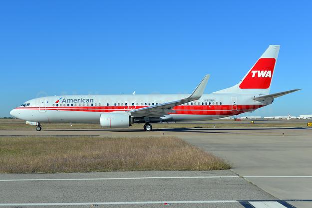 American's TWA heritage jet (1979 livery)