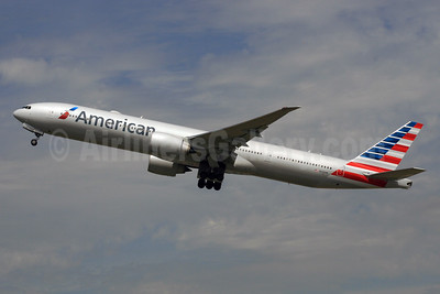 American Airlines Boeing 777-323 ER N732AN (msn 31549) LHR (SPA). Image: 928551.