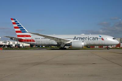 American Airlines Boeing 787-8 Dreamliner N806AA (msn 40624) LHR. Image: 929623.