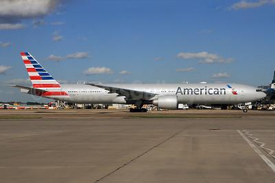 American Airlines Boeing 777-323 ER N733AR (msn 33524) LHR. Image: 927953.