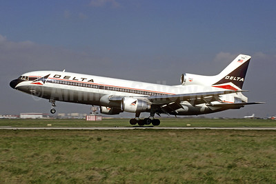 Delta Air Lines Lockheed L-1011-385-3 TriStar 500 N754DL (msn 1181) ORY (Jacques Guillem Collection). Image: 928699.