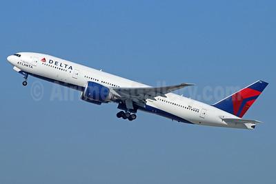 "Delta Air Lines Boeing 777-232 LR N702DN (msn 29741) ""The Spirit of Atlanta"" LAX (Michael B. Ing). Image: 932543."
