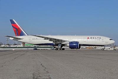 "Delta Air Lines Boeing 777-232 LR N708DN (msn 39264) ""David C. Garrett, Jr."" LAX. Image: 932547."