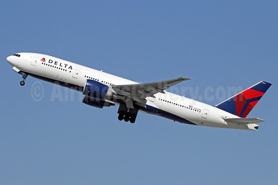 Delta Air Lines Boeing 777-232 LR N703DN (msn 32222) LAX (Michael B. Ing). Image: 932544.