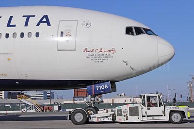"Delta Air Lines Boeing 777-232 LR N708DN (msn 39264) ""David C. Garrett, Jr."" LAX. Image: 932548."