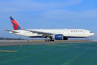 Delta Air Lines Boeing 777-232 LR N706DN (msn 30440) LAX. Image: 932546.