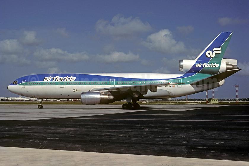 Air Florida (1st) McDonnell Douglas DC-10-30CF N102TV (msn 46801) MIA (Al Rodriguez - Christian Volpati Collection). Image: 931998.