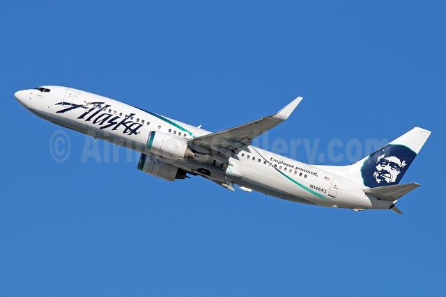 Alaska Airlines Boeing 737-890 WL N568AS (msn 35183) (Employee powered) LAX (Michael B. Ing). Image: 913802.