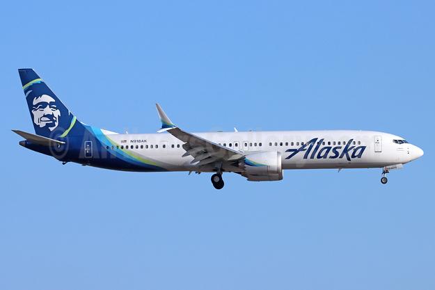 Alaska Airlines Boeing 737-9 MAX 9 N918AK (msn 44081) LAX (Michael B. Ing). Image: 954705.