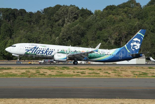 Left side of Boeing ecoDemonstrator
