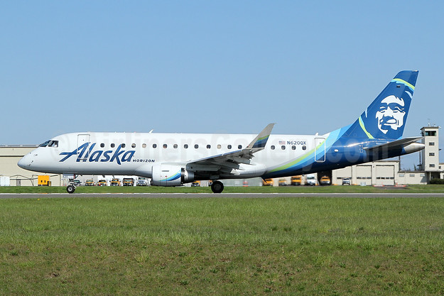 Alaska Horizon (Horizon Air) Embraer ERJ 170-200LR (ERJ 175) N620QX (msn 17000640) PAE (Nick Dean). Image: 946631.