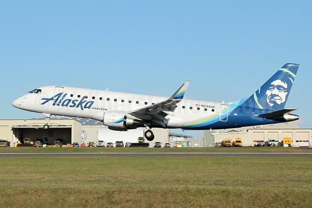 Alaska Horizon (Horizon Air) Embraer ERJ 170-200LR (ERJ 175) N636QX (msn 17000749) PAE (Nick Dean). Image: 946086.