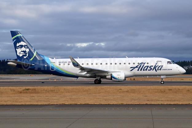 Alaska Horizon (Horizon Air) Embraer ERJ 170-200LR (ERJ 175) N635QX (msn 17000731) SEA (Michael B. Ing). Image: 943663.
