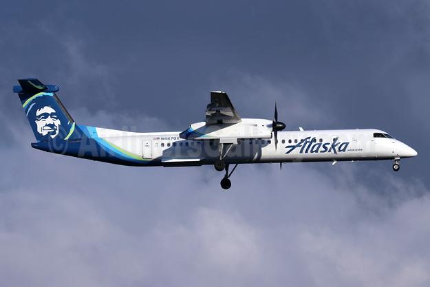 Alaska Horizon (Horizon Air) Bombardier DHC-8-402 (Q400) N447QX (msn 4364) SEA (Michael B. Ing). Image: 947263.