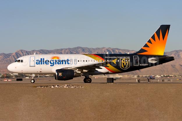 Allegiant Air Airbus A319-112 N302NV (msn 2387)  (Vegas Golden Knights) LAS (Gunter Mayer). Image: 953312.