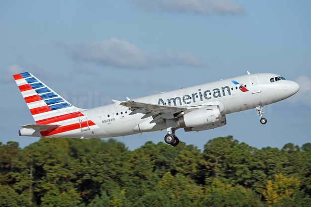 American Airlines Airbus A319-132 N808AW (msn 1088) RDU (Ton Jochems). Image: 942694.