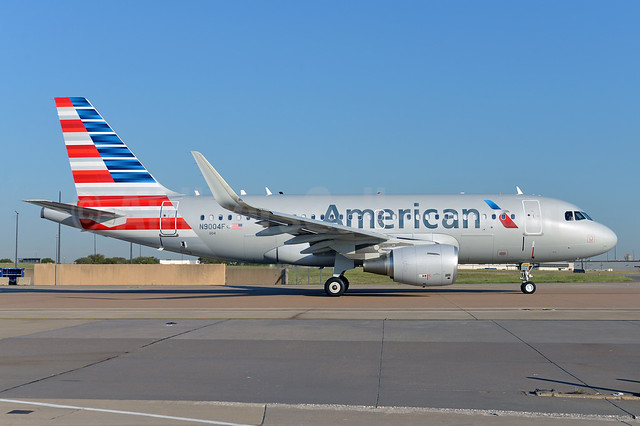 American Airlines Airbus A319-115 WL N9004F (msn 5745) (Sharklets) DFW (Brian Peters). Image: 913743.