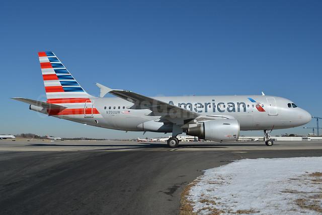 American Airlines Airbus A319-112 N700UW (msn 885) CLT (Jay Selman). Image: 402316.