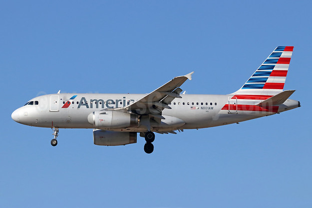 American Airlines Airbus A319-132 N801AW (msn 889) ONT (Michael B. Ing). Image: 946606.