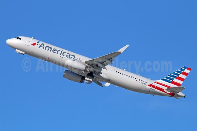 American Airlines Airbus A321-231 WL N109NN (msn 5955) LAX (Michael B. Ing). Image: 925427.