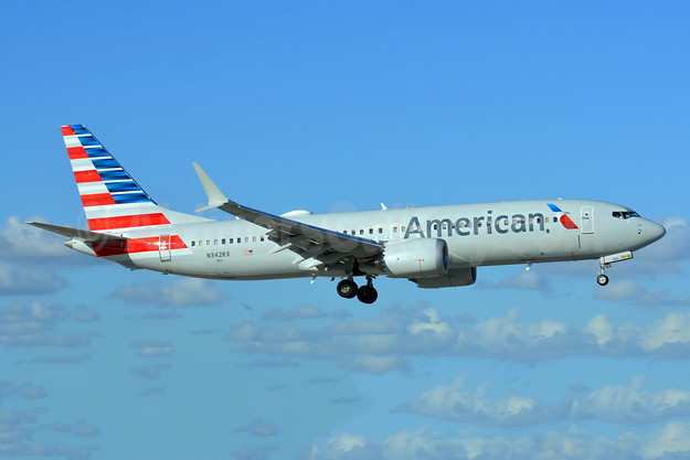 American Airlines Boeing 737-8 MAX 8 N342RX (msn 44466) MIA (Bruce Drum). Image: 104956.