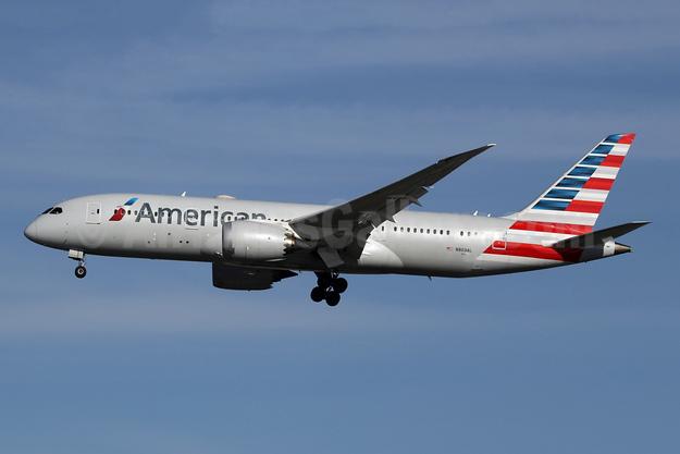 American Airlines Boeing 787-8 Dreamliner N803AL (msn 40621) LHR (SPA). Image: 947889.