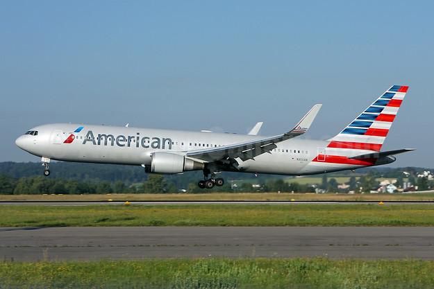 American Airlines Boeing 767-323 ER WL N350AN (msn 33089) ZRH (Andi Hiltl). Image: 924015.