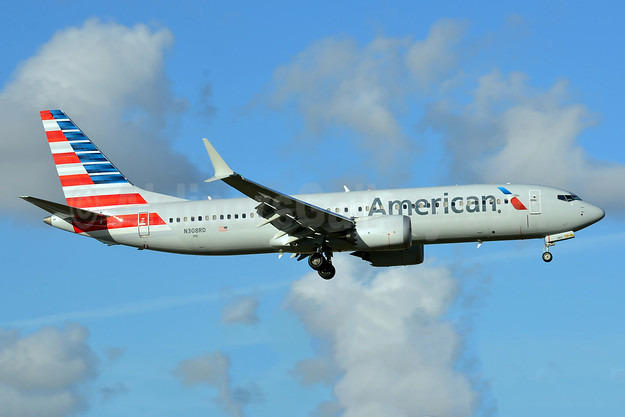 American Airlines Boeing 737-8 MAX 8 N308RD (msn 44446) MIA (Bruce Drum). Image: 104585.