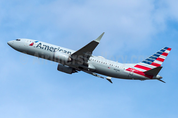 American Airlines Boeing 737-8 MAX 8 N303RE (msn 44447) FLL (Andy Cripps). Image: 945355.