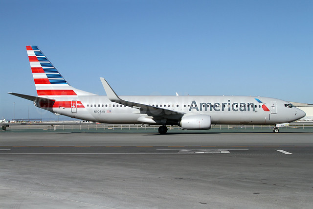 American Airlines Boeing 737-823 WL N908NN (msn 39238) SFO (Mark Durbin). Image: 911160.
