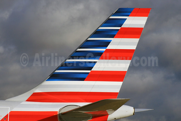 American Airlines tail LHR (SPA). Image: 925894.