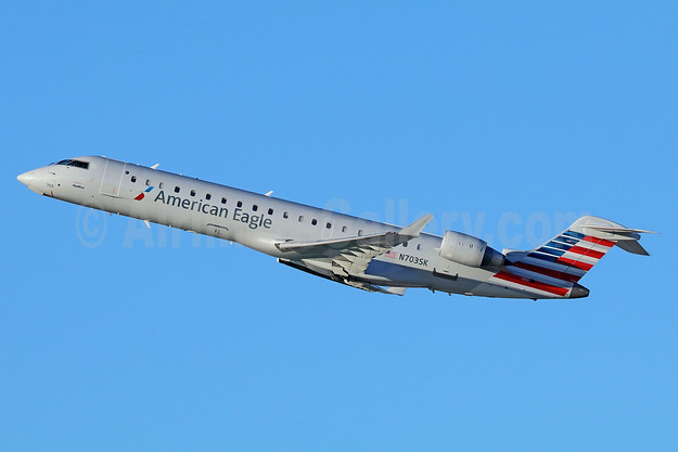 American Eagle Airlines (2nd)-SkyWest Airlines Bombardier CRJ700 (CL-600-2C10) N703SK (msn 10139) LAX (Michael B. Ing). Image: 937551.
