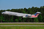 American Eagle (2nd)-Envoy Bombardier CRJ700 (CL-600-2C10) N515AE (msn 10121) RDU (Ken Petersen). Image: 930107.