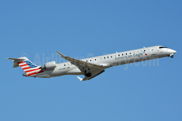 American Eagle (2nd)-PSA Airlines (2nd) Bombardier CRJ900 (CL-600-2D24) N574NN (msn 15365) CLT (Jay Selman). Image: 403063.