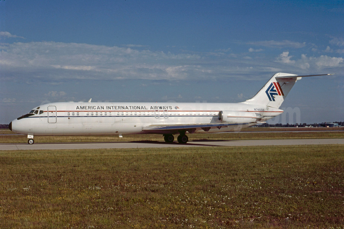 American International Airways (2nd) McDonnell Douglas DC-9-33CF N7465B (msn 47465) DTW (Bruce Drum). Image: 103294.